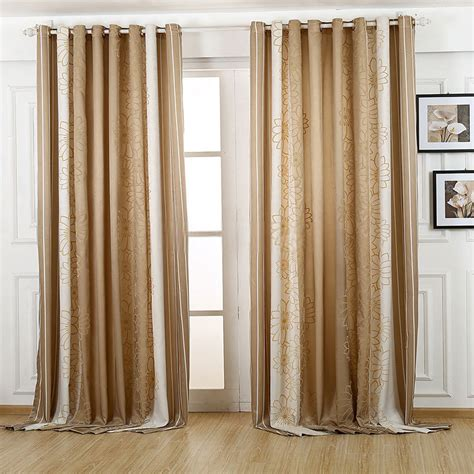 vintage brown blackout curtain for bedroom