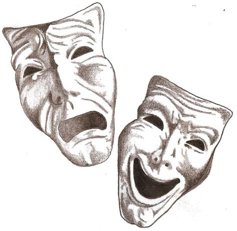 comedy and tragedy masks cliparts co