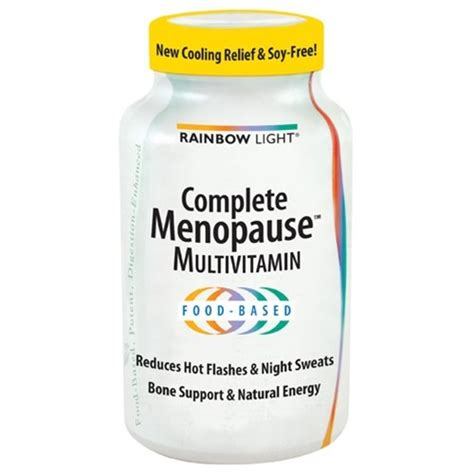 Which Light Sensitive Vitamin Is Abundant In Milk by Rainbow Light Complete Menopause Vitamin Tablets 120