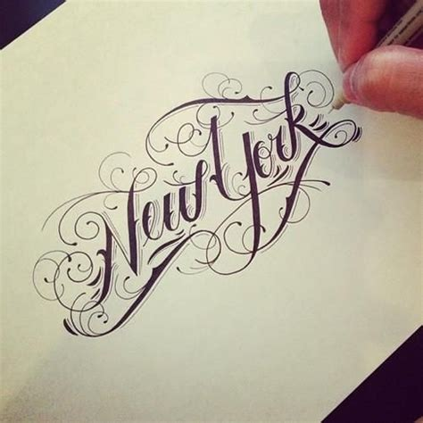 New York Tattoo Writing | beautiful exles of calligraphy kristelvdakker