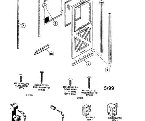 Andersen View Door Parts - andersen door parts list in fancy exterior