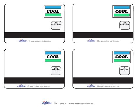 kid card template 8 best images of printable pretend credit cards