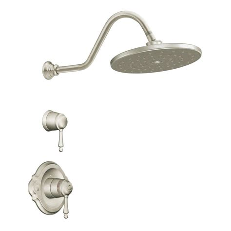 Shower Only Faucets by Moen Waterhill 2 Handle 1 Spray Exacttemp Shower Only Faucet Trim Kit In Brushed Nickel Valve