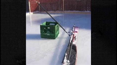 backyard rink resurfacer backyard ice rink rink rake youtube