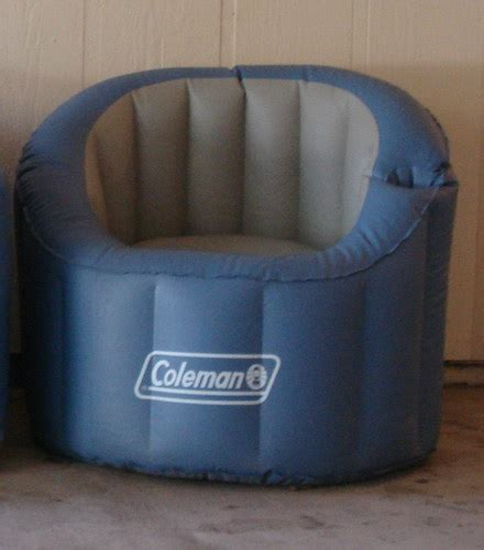 Coleman inflatable camping outdoor chair with cup drink holder ebay