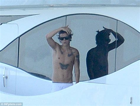boat tattoo harry styles harry styles kicks back in his grey y fronts with topless