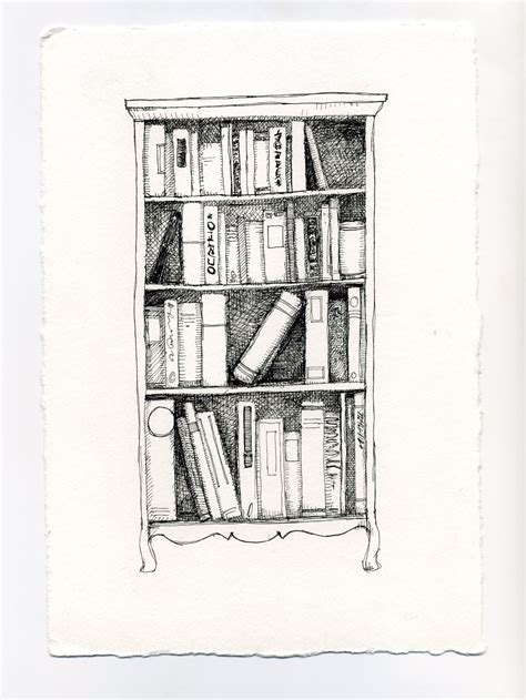 bookshelf sketch bookshelf drawing www pixshark images galleries