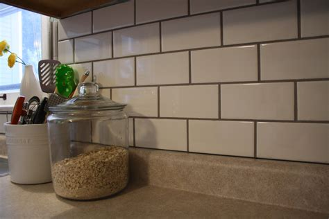 grout kitchen backsplash what i m loving today diy subway tile backsplash