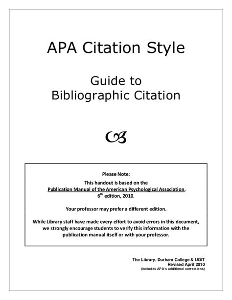 what s your style a guide to america s most common home apa style citation 6th edition guide 2 0