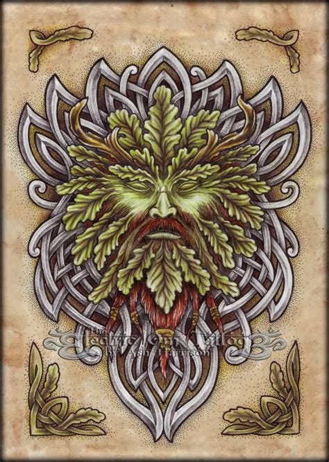 green man tattoo green green