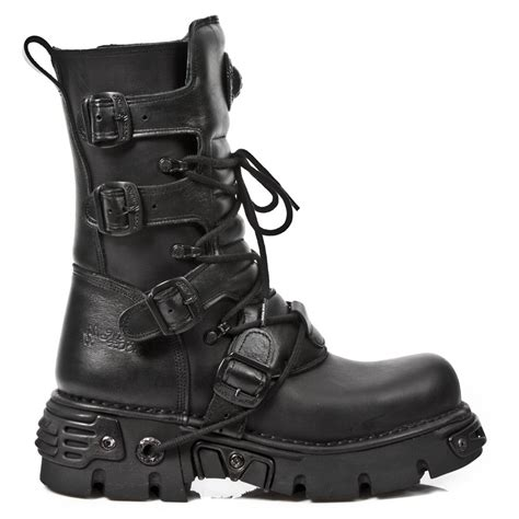 Sepatu Boots New Rock m 373 s18 black new rock boots on reactor soles