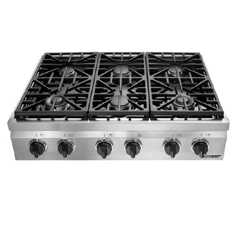 6 Burner Cooktop Shop Dacor Distinctive 6 Burner Gas Cooktop Stainless