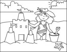 Preschool Summer Coloring Page  GetColoringPagescom sketch template