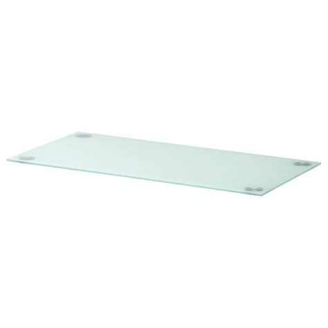 glasholm table top glass white ikea my new office