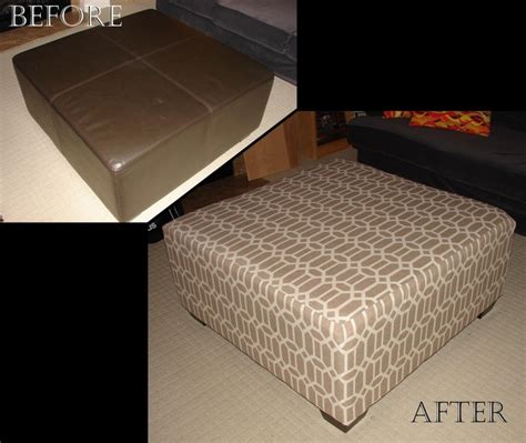 how to reupholster a pillow top ottoman ottoman reupholstered murray edits
