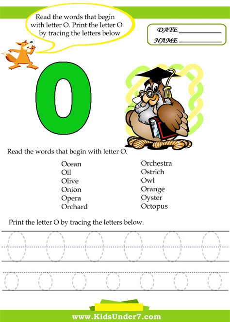 Names Beginning With The Letter O