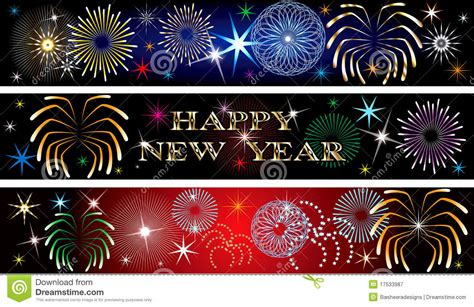 new year banner new year firework banners 2 royalty free stock photography