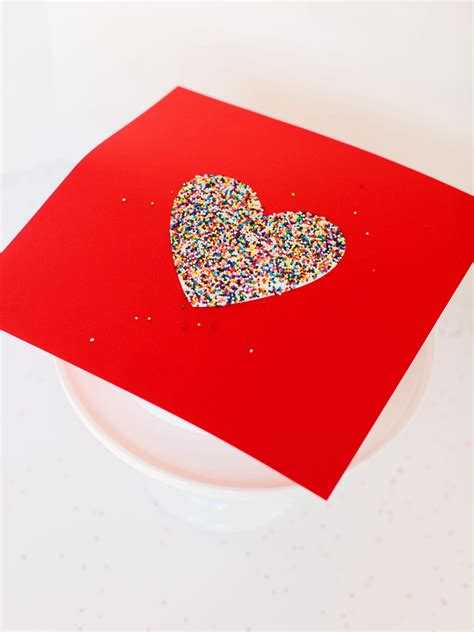 how to make a diy sprinkled heart cake for sprinkles baby