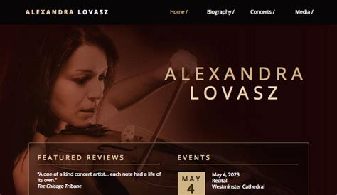 Classical Music Wix Template Wix Creative Arts Template Best Squarespace Template For Musicians