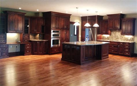 what color floor with cherry cabinets large open concept cherry kitchen 183 more info