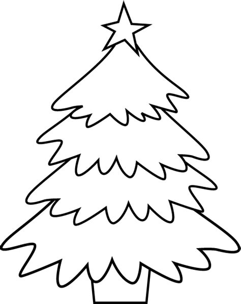 coloring page of christmas tree christmas tree coloring pages free printable pictures