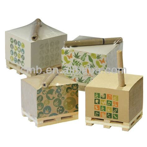 Craft Paper Dispenser - eco craft paper memo cube with pen holder view memo cube