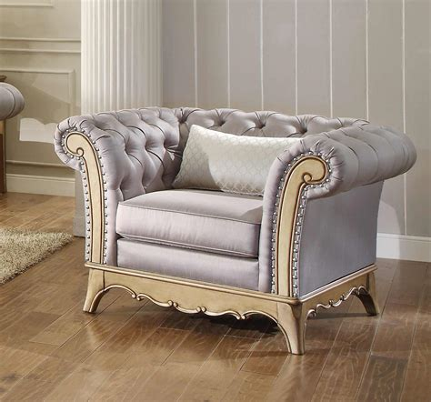 homelegance chambord chair chagne 18289 1