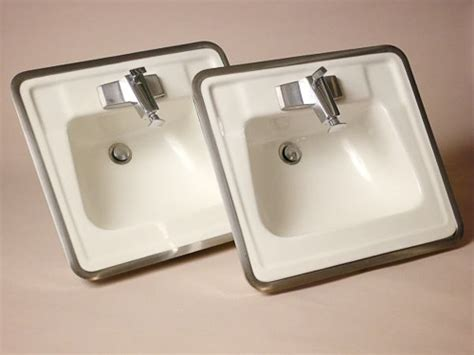 rare 1964 vintage bathroom sinks and faucets from truman