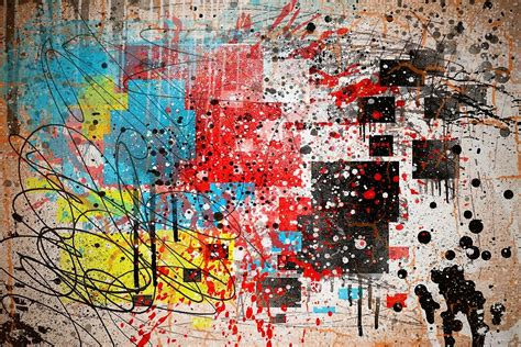 Pop Art Wall Stickers quot abstract splatter paint print thrown paint jackson