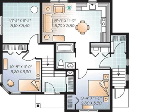 bachelor house plan split level with full bachelor suite 21858dr 1st floor master suite cad available