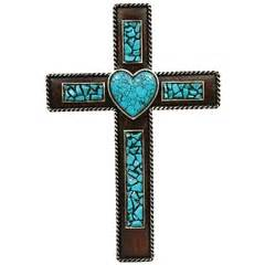 natural turquoise wall cross jesus savior home decor 428 best images about crosses on pinterest mosaics