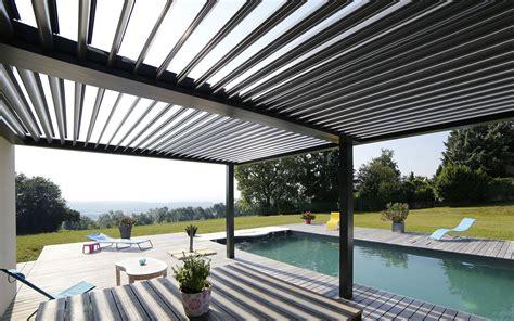 moderne zäune metall terrasse bioclimatique nos r 233 alisations pour