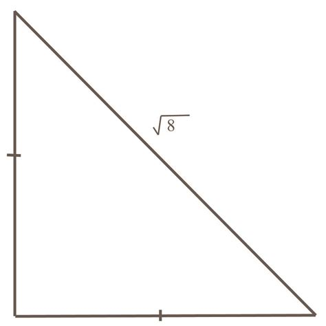 triangle one length bob with lengths of sides in isosceles right triangles ck 12