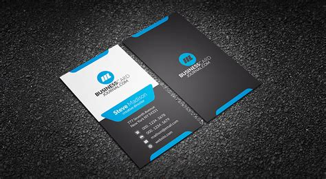 Blue Business Card Template Free by Free Modern Stylish Blue Corporate Business Card Template
