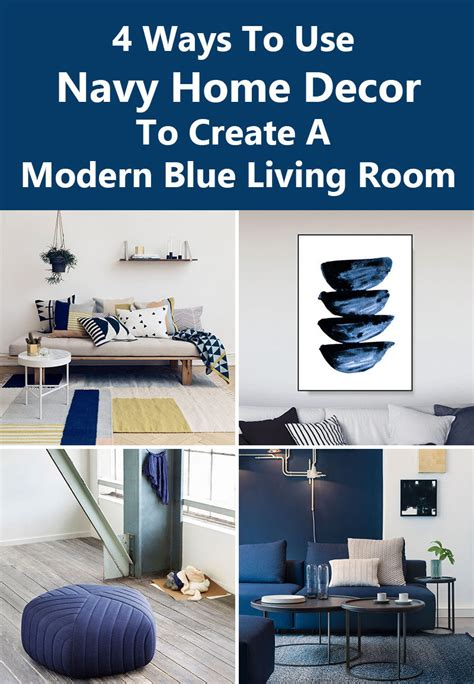 navy home decor modern blue living room modern house