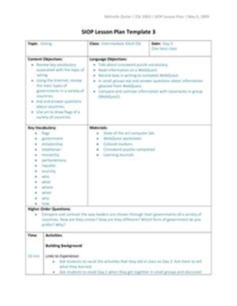 scaffolding lesson plan template 1000 images about siop scaffolding lesson plans on