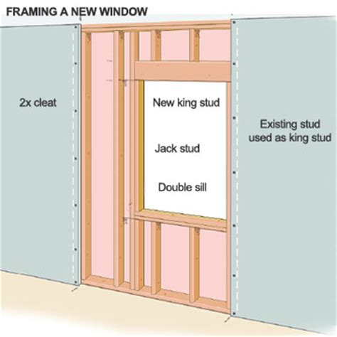 how to install new windows in a house framing the window opening how to install new windows in your house diy advice