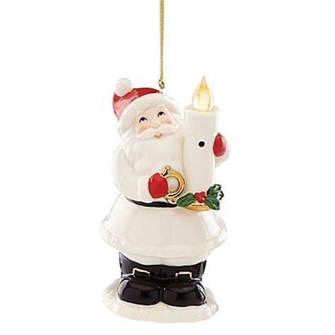 bed bath and beyond christmas lights lenox 174 blow out the lights sensor santa ornament bed