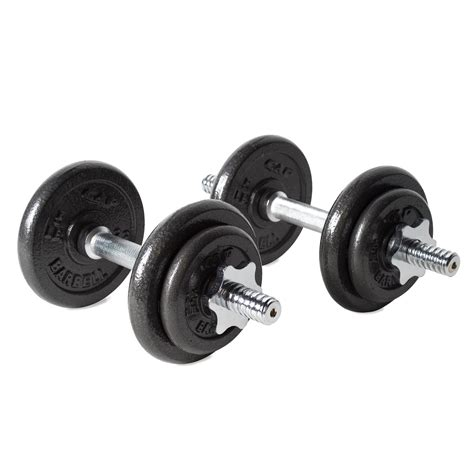 cap barbell 40 pound adjustable dumbbell set