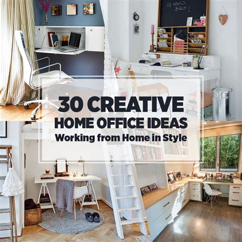 Creative Home Office | 30 creative home office ideas working from home in style