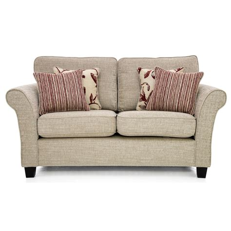 Sofas Small by Casa Lucille Small Sofa High Back 2 Seat Corinne Beige