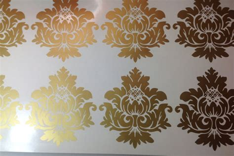 gold pattern stickers gold vinyl wall decals scroll damask wall pattern 10 graphics