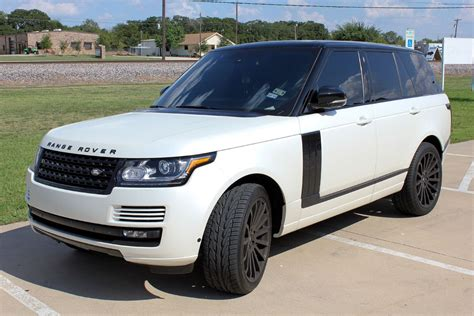 matte white range rover satin pearl white range rover matte and satin wraps