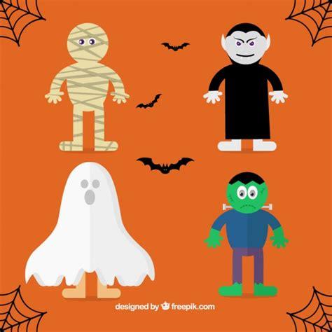 imagenes monstruos halloween siluetas personas fiesta fotos y vectores gratis