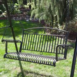 international caravan tropico 4 ft wrought iron curved back porch swing porch swings at hayneedle