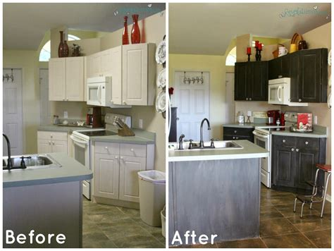 whitewash kitchen cabinets before after multicolor chalk paint kitchen cabinets before and after