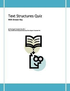 patterns of organization in reading quiz organizing text structures quiz with answer key cause