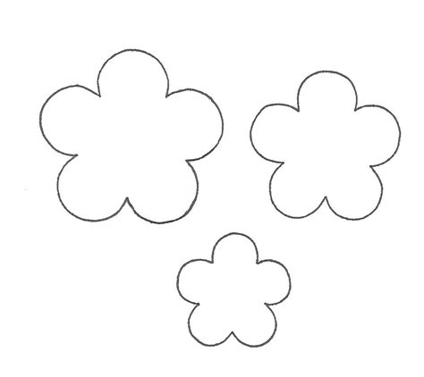 templates for flowers paper flower template clipart best