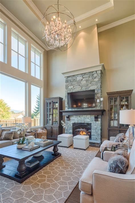 Large Living Room Houzz New West Classic Traditional Living Room Vancouver