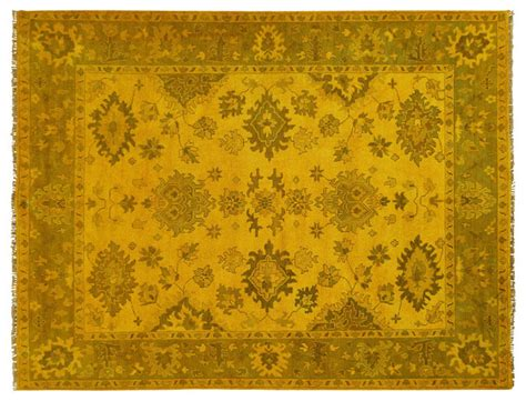 mustard yellow rug floral overdyed oushak mustard yellow 9 x12 knotted wool turkish rug h5699 traditional